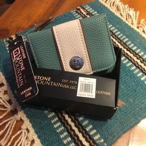 Stone Mountain Leather Wallet - NWT